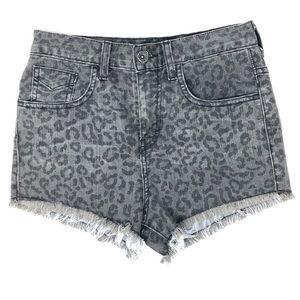 Vans High Waisted Cheetah Leopard Shorts Jr Size 1